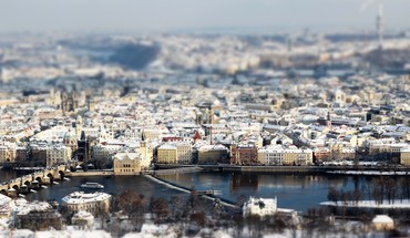 Prague in focus HD wallpaper