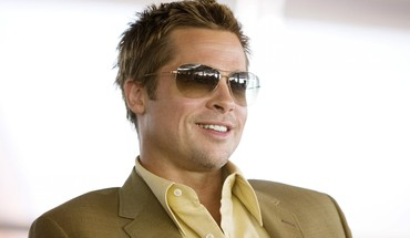 Brad pitt actors grin men sunglasses HD wallpaper