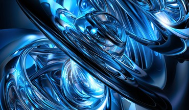 cercles bleus  HD wallpaper
