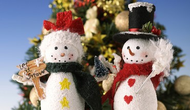 Snowmen  HD wallpaper