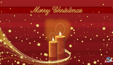 Chrisstmas goldenen Candale  HD wallpaper