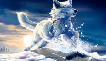 Fantasy loup  HD wallpaper