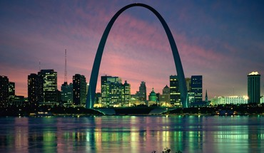 Cityscapes night architecture buildings st louis cities HD wallpaper