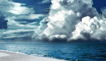 Seaside skies sky HD wallpaper
