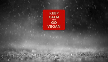 Keep calm and go vegan HD wallpaper