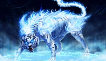 Flaming tiger HD wallpaper
