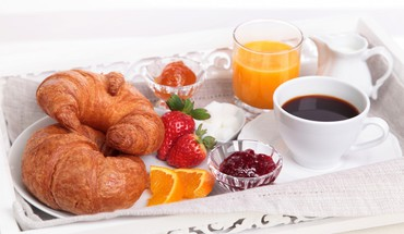 Nice rounded breakfast HD wallpaper
