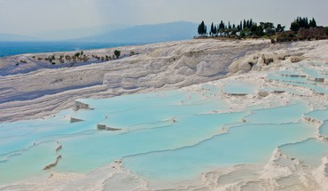 Nature turkey pamukkale hiérapolis travertine HD wallpaper