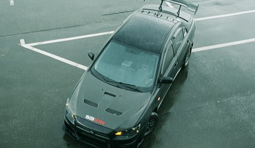 Automobiliai Mitsubishi Lancer Evolution x black  HD wallpaper
