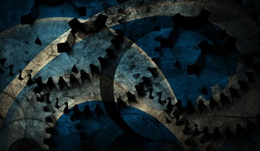 Blue cog grunge HD wallpaper