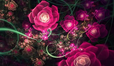 Fractal flower design HD wallpaper