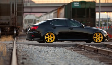 Hella flush lexus black cars stance HD wallpaper