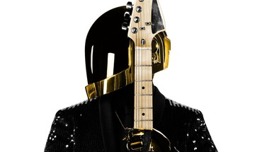 Music daft punk guitars white background HD wallpaper