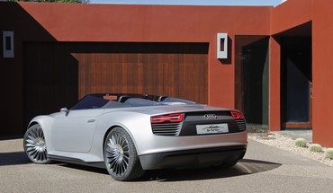 Electric car german e-tron spyder rear view HD wallpaper