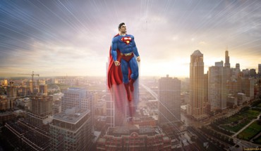 Superman cities HD wallpaper