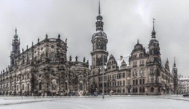 Dresden german baroque churches HD wallpaper