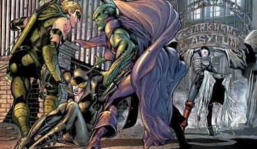 Comics katana catwoman green arrow martian manhunter HD wallpaper