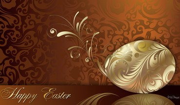 A golden easter egg HD wallpaper