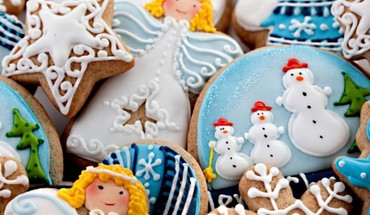 Cookies christmas new year snowman santa lovely HD wallpaper