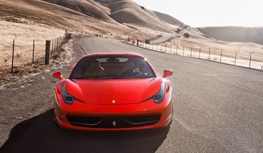 Cars ferrari red 458 italia HD wallpaper