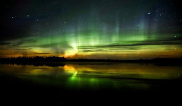 Landscapes night aurora borealis HD wallpaper