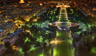 Paris night panorama shift HD wallpaper