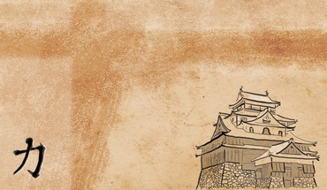 Japan minimalistic artwork himeji HD wallpaper