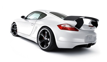 White porsche cayman s HD wallpaper