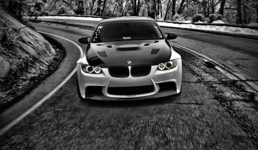 Black and white cars grayscale bmw m3 HD wallpaper