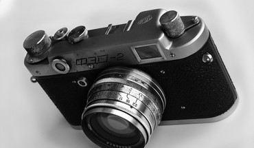 Analog cameras monochrome HD wallpaper