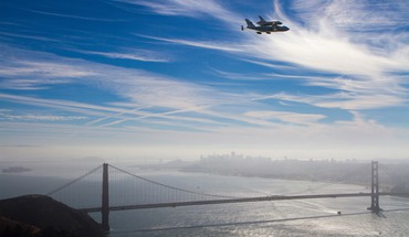 California san francisco skyscapes space shuttle endeavour HD wallpaper