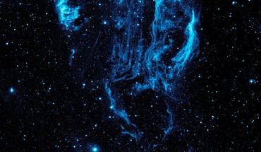 Blue nebulae outer space stars HD wallpaper