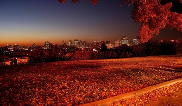 Autumn night picture HD wallpaper