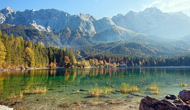 Lake eibsee HD wallpaper
