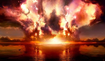 Explosions fire HD wallpaper