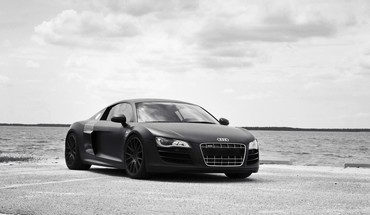 Black germany audi r8 roadster tuned famous HD wallpaper