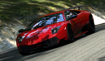 Red cars murciélago lp670-4 sv murcielargo trial HD wallpaper