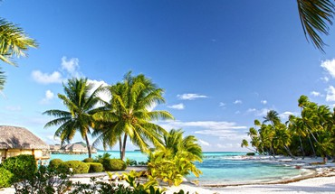 Beautiful pearl beach resort bora tahiti HD wallpaper