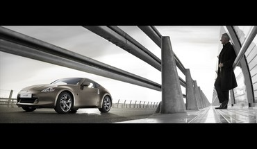 Cars bridges nissan 370z widescreen HD wallpaper