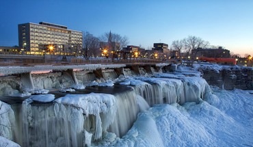 Frozen falls in new edinburgh ottawa HD wallpaper