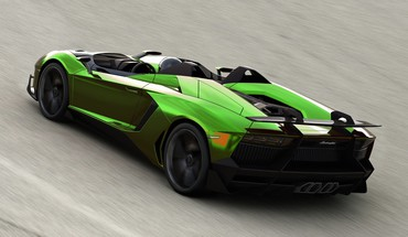 Lamborghini aventador jota cars green HD wallpaper