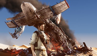 Desert crash nathan drake adventure uncharted 3 HD wallpaper
