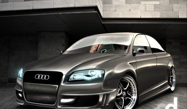 Automobiliai Audi tiuningo 3d  HD wallpaper