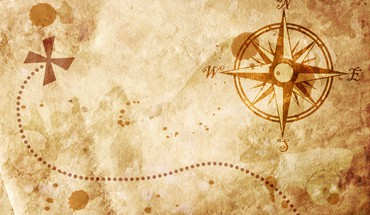 Old map with a compass on it HD wallpaper