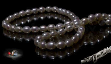 Necklace from pearls HD wallpaper
