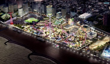 Futuristic depiction of coney island brooklyn HD wallpaper