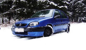 Blue sniego Citroen Saxo  HD wallpaper