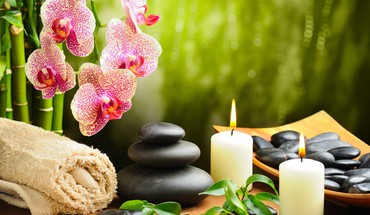 Hot Stone spa  HD wallpaper
