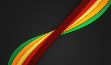 Minimalistic rainbows dark background color spectrum twisted clean HD wallpaper