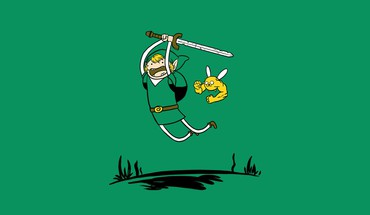 Minimalistic link funny adventure time HD wallpaper